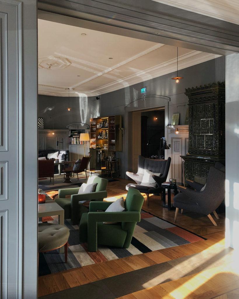 Interior of Ett Hem hotel in Stockholm