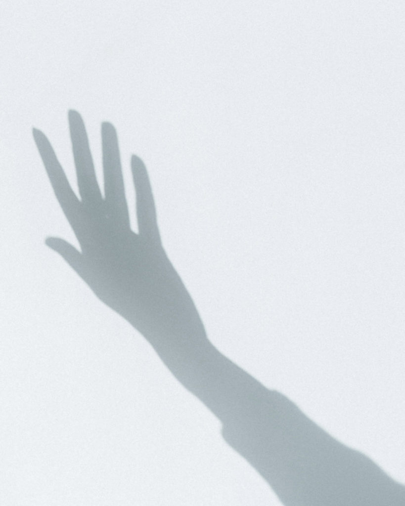 Open hand in the air
