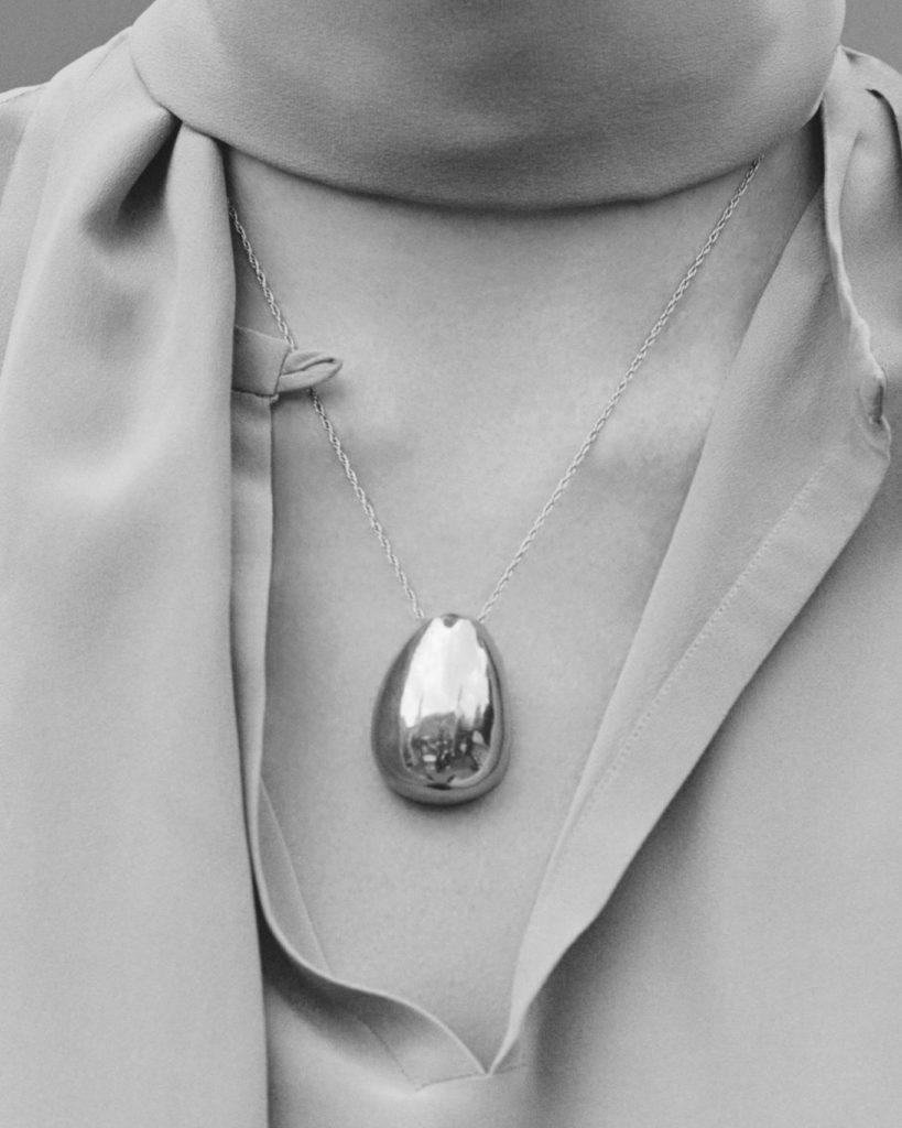 Silver pendant designed by Sophie Buhai